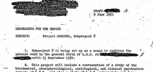 Sidney Gottlieb genehmigte in diesem Brief vom 9. Juni 1953 ein MKULTRA Teilprojekt, das sich mit LSD beschäftigt. (Foto: Dmcdevit, Wikipedia Gemeinfrei, cropped)