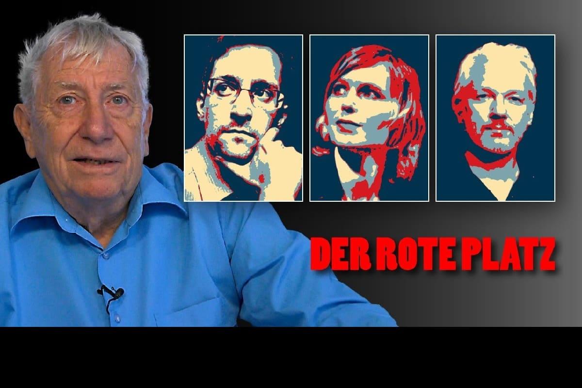 Der Rote Platz, Ausgabe 57. Whistleblower sind die Helden der Demokratie. (Screenshot: YouTube, Weltnetz.tv)