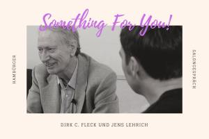 Zwei Hambürger (Folge 6): Dirk C. Fleck und Jens Lehrich im Salongespräch. (Grafik: Neue Debatte, Foto: ahundredmonkeys)