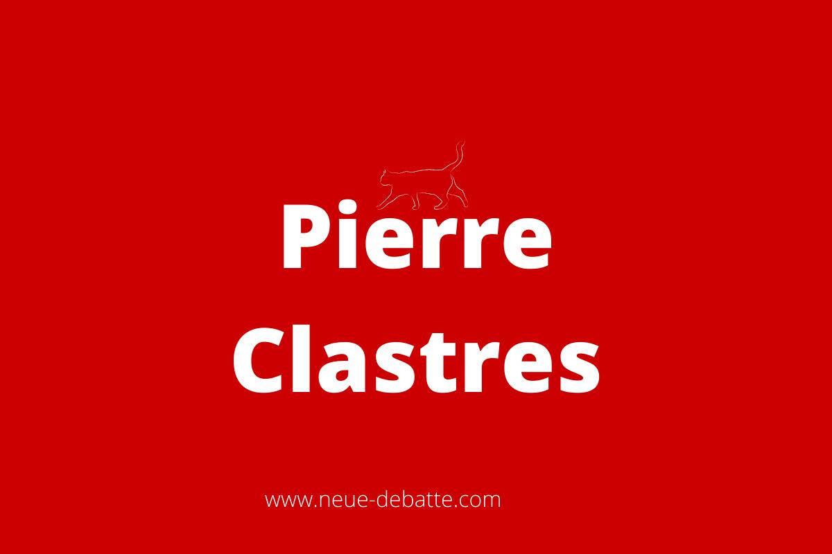 Pierre Clastres (Grafik: Neue Debatte)