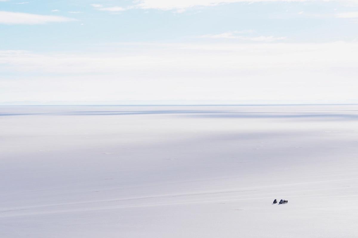 Salar de Uyuni in Bolivian, wo Evo Morales zurückgetreten ist. (Foto: Sean Thoman, Unsplash.com)
