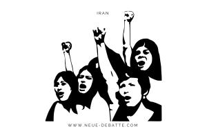 In Teheran und anderen Städten des Irans kommt es zu sozialen Unruhen. (Illustration: Neue Debatte)
