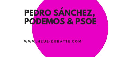 Julio Anguita analysiert die spanische Koalitionsregierung. (Illustration: Neue Debatte)