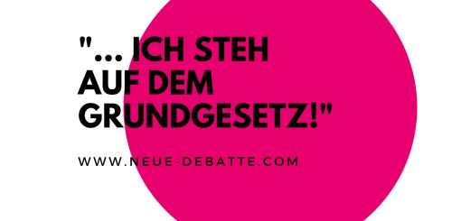 Die Nicht ohne uns Versammlung in Berlin verteidigt das Grundgesetz. (Illustration: Neue Debatte)