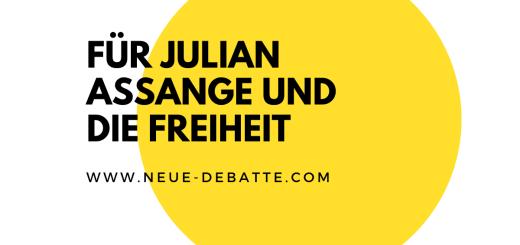 Immer mehr Menschen fordern Freiheit für Julian Assange. (Illustration: Neue Debatte)