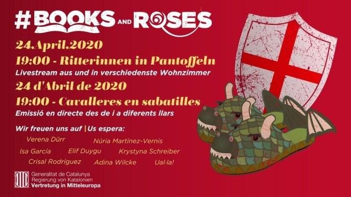 Books and Roses Sant Jordi Fest Live-Stream 2020 (Grafik: Books and Roses)