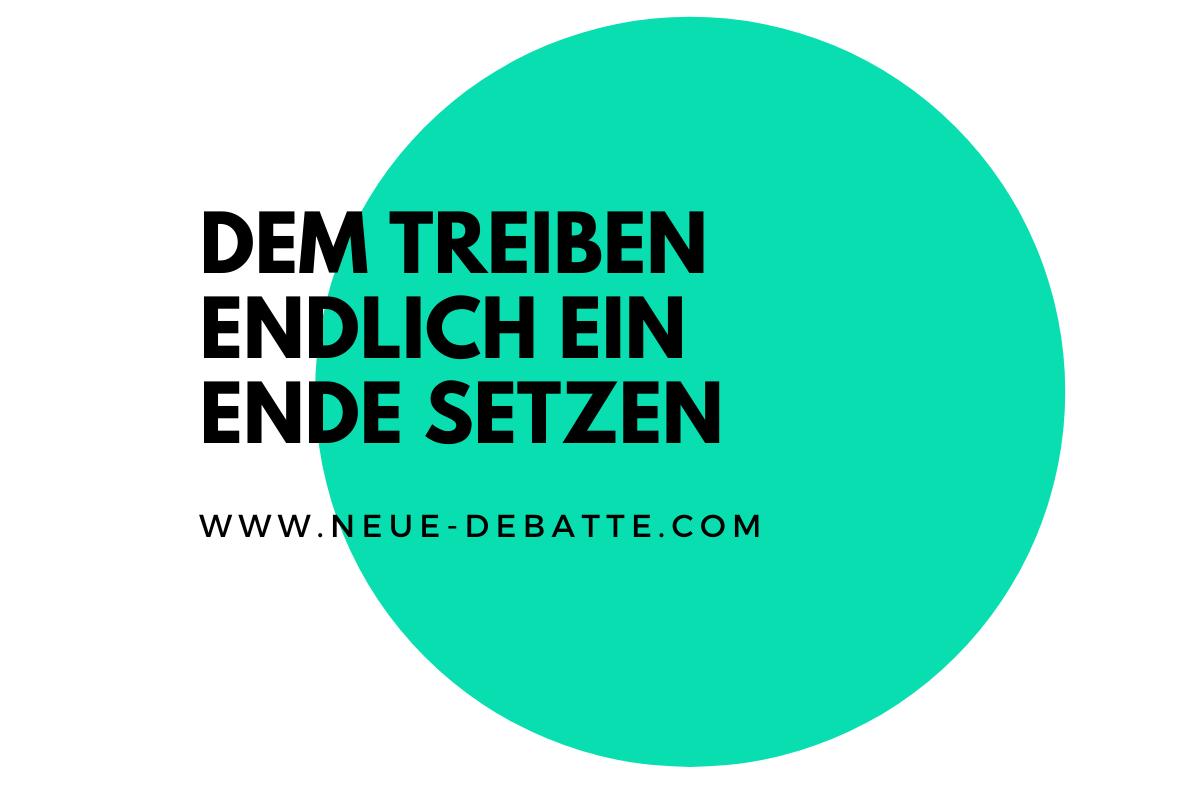 Die Bescheibung der Symptome einer Verdrängungs- und Konkurrenzgesellschaft. (Illustration: Neue Debatte)