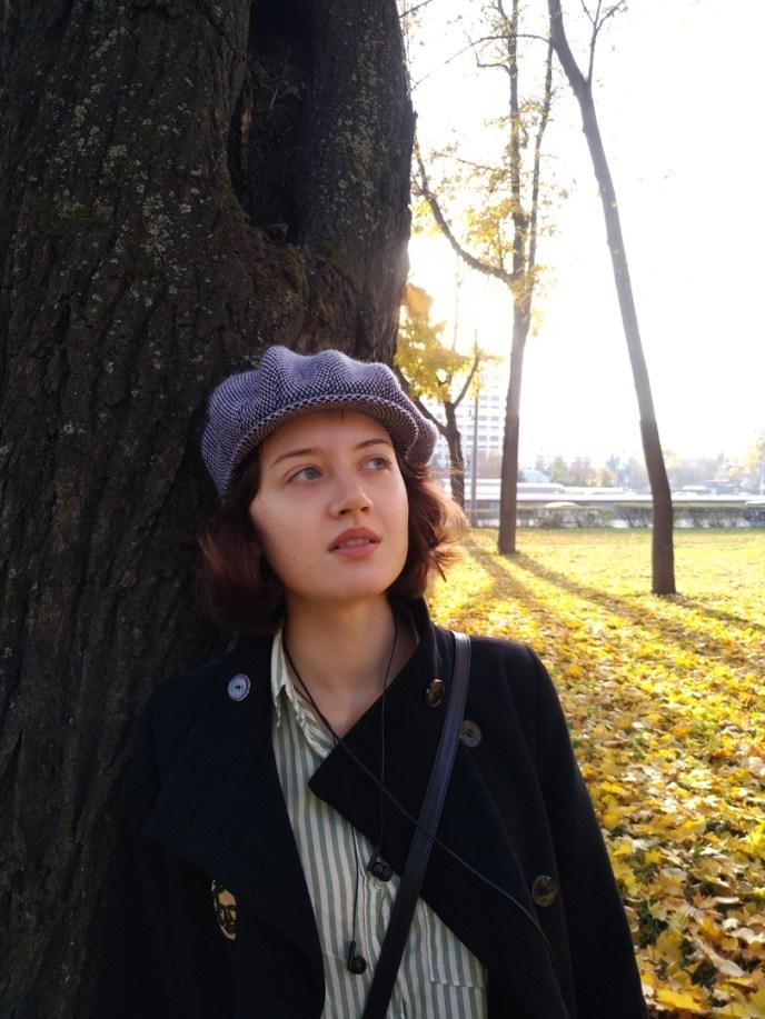 Marija Zwenigorodskaja im Park. (Foto: privat)