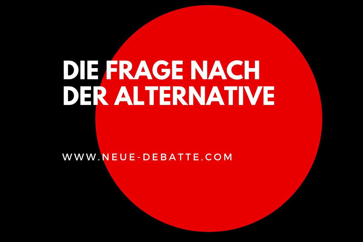 Kapitalismuskritik und die Frage nach der Alternative ist ein Buch von Hermann Lueer. (Illustration: Neue Debatte)