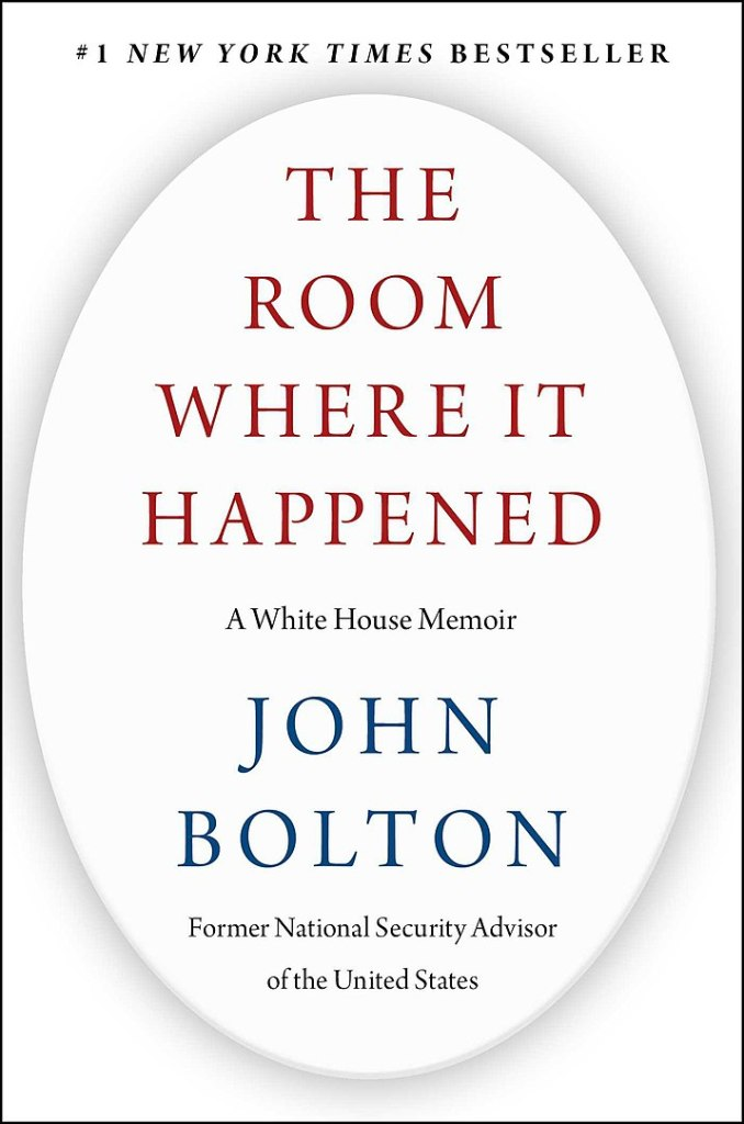 The Room Where It Happened von John Bolton erschien im Juni 2020. (Cover: Simon und Schuster, gemeinfrei)