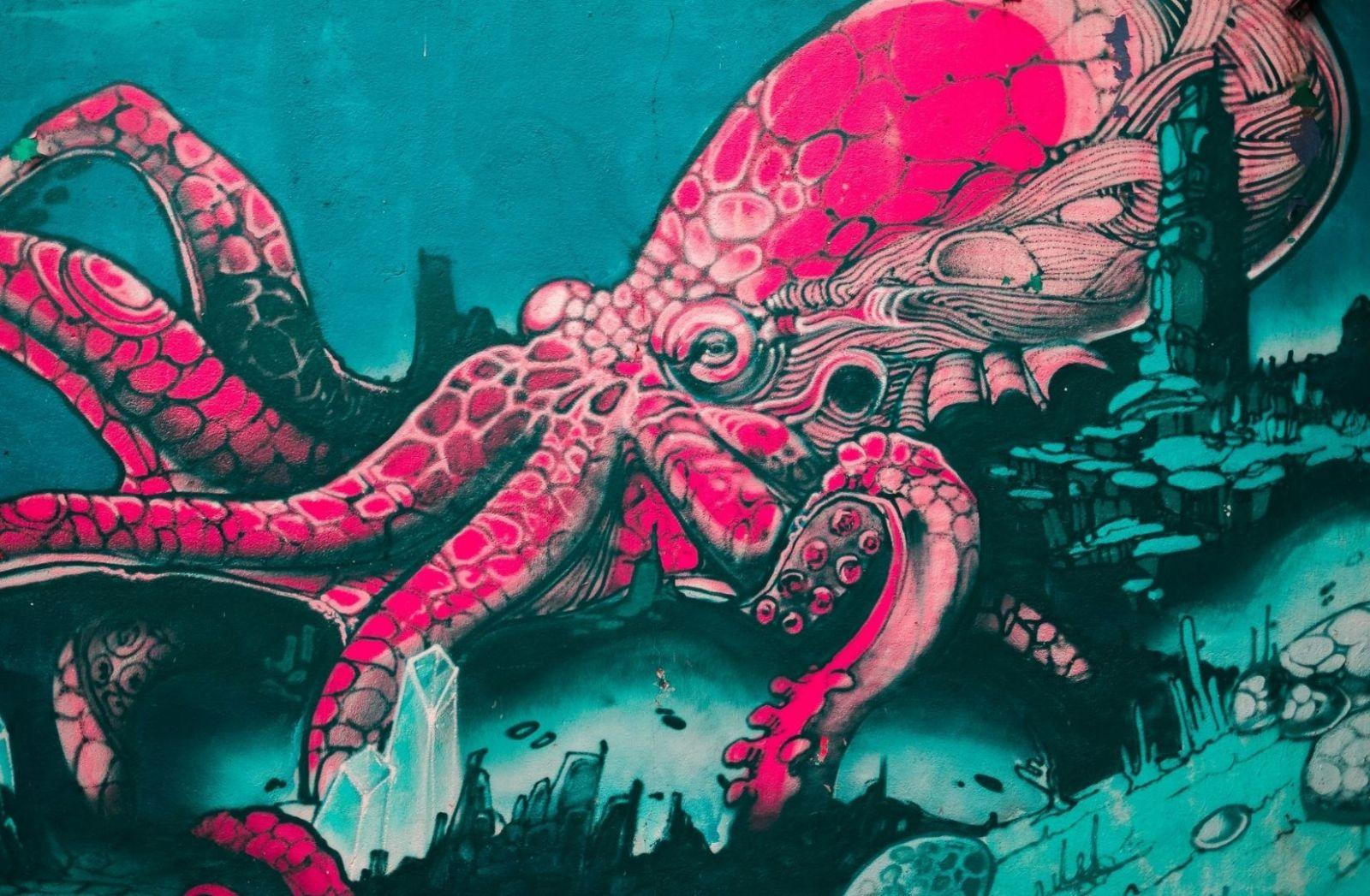 Der Oktopus prägt den Titel eines Romans von Dirk Rossmann. (Foto: Zo Razafindramamba, Unsplash.com)