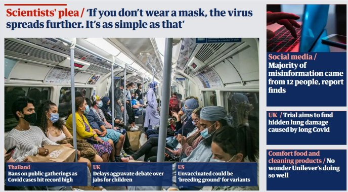 The Guardian 18. Juli 2021 (Screenshot: Consent Factory)