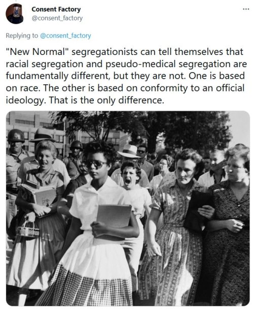 segregation-tweet Foto Consent Factory