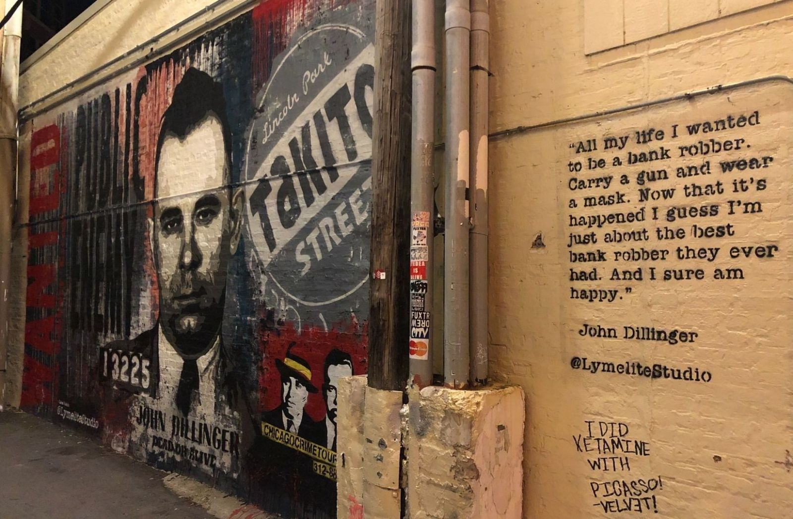Wallpaper mit John Dillinger in Chicago. (Foto: Alden Maben, Unsplash.com)