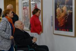 Prof. Karl Oskar Blase bei der Eröffnung der Ausstellung PLAKAT KUNST KASSEL, Foto: Michael Wilfing