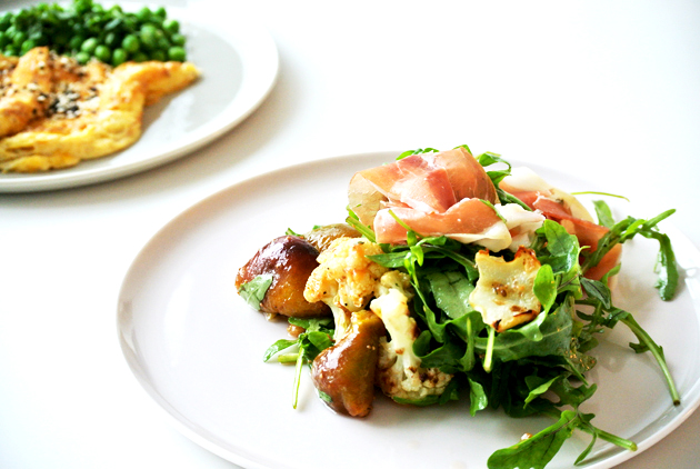 foodblog, fit essen, TCM Rezepte, Gemüse Rezept, Blumenkohl, Karfiol, Feigen, Rukola, Salat