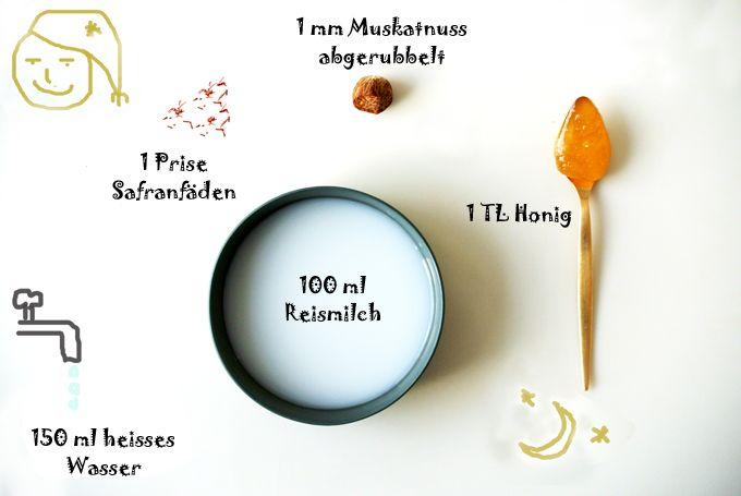 foodblog, fit essen, TCM Rezepte, Schlafen, Muskat, Safran
