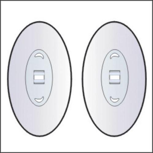 Nasenpad Silikon Klick Oval 19mm