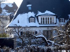 Nymphenburger Villa mit Obstgarten