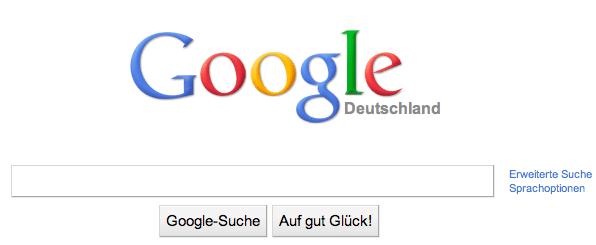 Googel Suche. Das zum Maximum reduzierte UI.