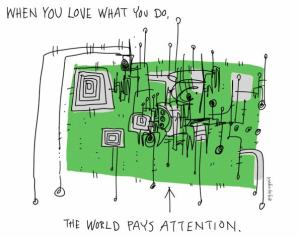 The World Pays Attention - Hugh MacLeod