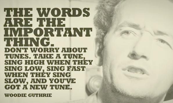 Die Worte sind das wichtige.