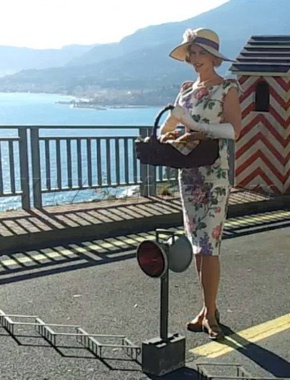 Nicole Kidman as Grace Kelly on the scene in Menton, France
