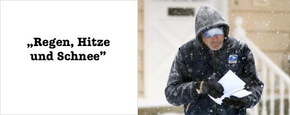 Regen Hitze und Schnee