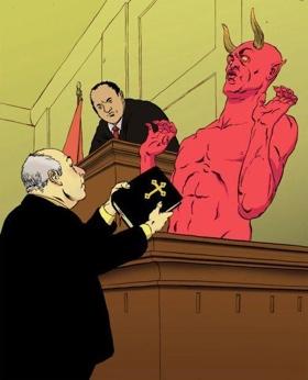 Vor Gericht wird der Zeuge vom Staatsanwalt angehalten mit Ja oder Nein zu antworten.