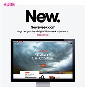 Neue Newsweek.com von Agentur Huge