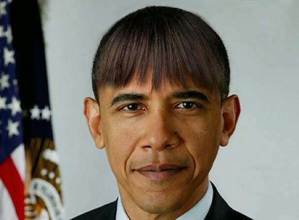 Obama Bangs