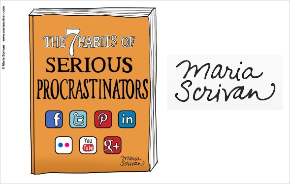 serious procrastinators by Maria Scrivan.
