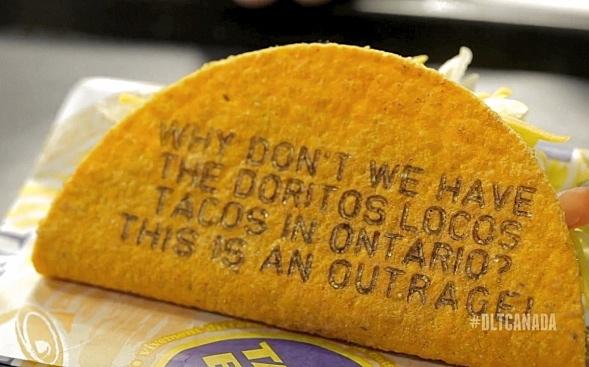 """""""Warum gibt es keine Doritos Loco Tachos in Ontario? Es ist ein Verbrechen!"""""""