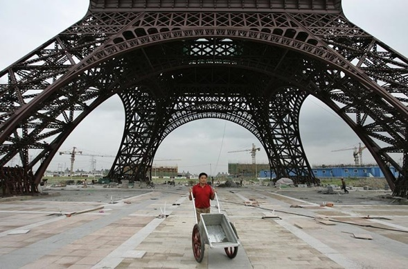 Eine Postkarte aus Paris, China