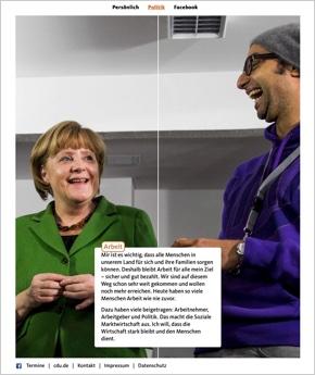 Angela Merkel Einseiter
