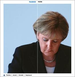 Paralaktisches Abrollen von Angela-Merkel.de