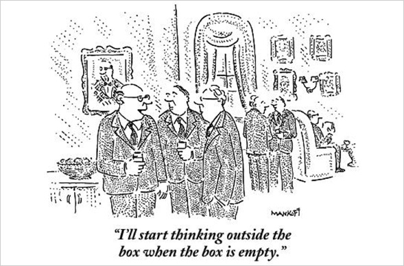 """""""Ich denke dann über den Tellerrand hinaus, wenn der Teller leergegessen ist."""" -Mankoff"""