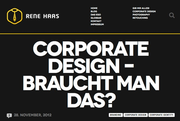 Rene Haas Blogeintrag: Corporate Design—Does One Need It?