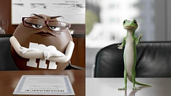 Mrs. Brown w/Geico gecko