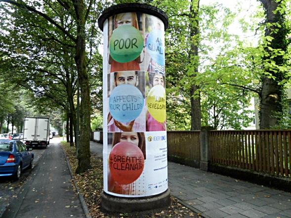 Lithfasssäule in München Nymphenburg. Foto: Petra Hammerstein.