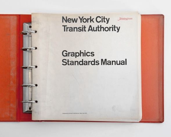 70's NYC Transit Authority Graphics Standards Manual was a ring binder