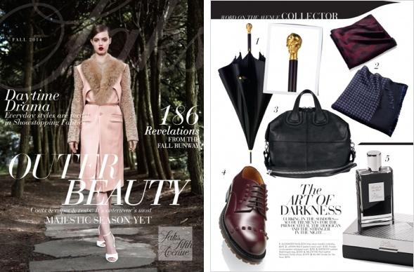 Saks Fifth Avenue Katalog, kuratiert wie ein Magazin.