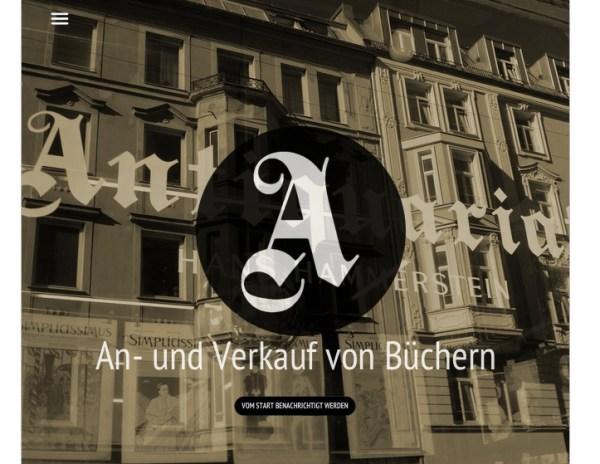 Antiquariat launch soon Anzeige