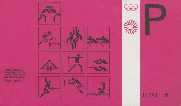 Otl Aicher Munich 72 Olympics pass