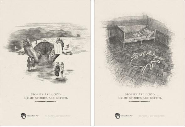 Anzeigen für die Vilnius Buch Messe: Metamorphosis, Gulliver