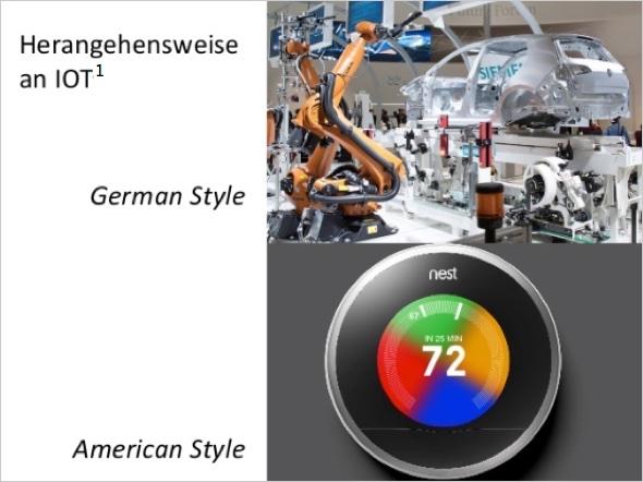 German Style - American Style (Quelle- Internet der Dinge – der nächste große Schritt für die digitale Wirtschaft von Holger Schmidt)