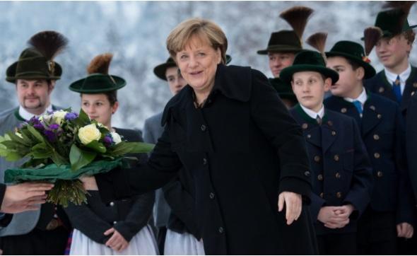 Merkel in Wildbad Kreuth. Foto: DPA
