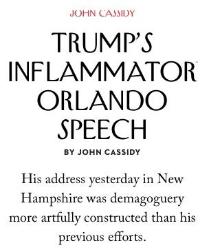 Berühmte Hausschrift des New Yorker Magazin's
