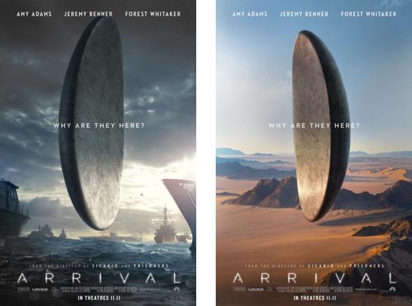 """""""Arrival"""" Filmplakate"""