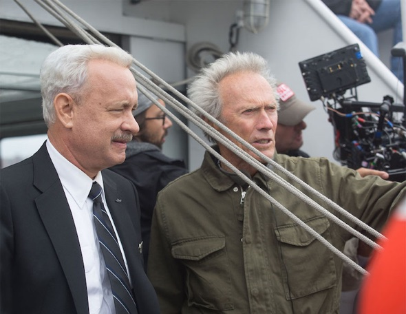 Tom Hanks mit Regisseur Clint Eastwood